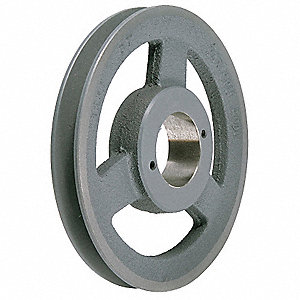"V-Belt Pulley,Detachable,1Groove,6.75""OD"