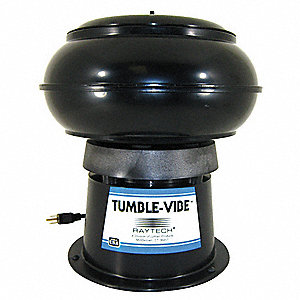 "Vibratory Tumbler, Standard, 0.18 cu. ft., 12 lb. Weight Capacity, 12"" Bowl Dia., 4-1/4"" Bowl Height"