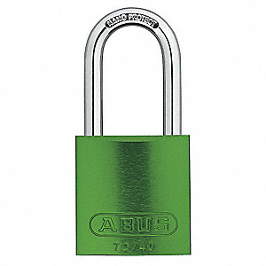 Green Lockout Padlock, Alike Key Type, Master Keyed: Yes, Recycled Anodized Aluminum Body Material