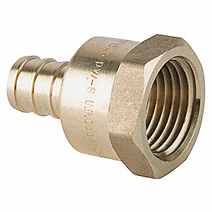 "Low Lead Brass PEX and Pipe Adapter, PEX x FNPT Connection Type, 3/4"" PEX Size"