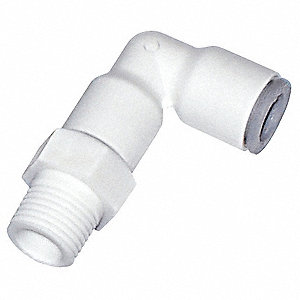 Plastic Swivel Elbow, 90°, Nylon Body Material, Tube Connection Type