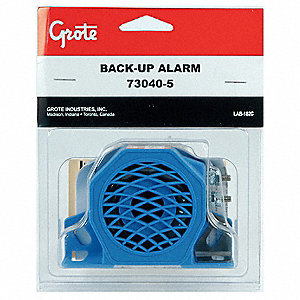 Back Up Alarm,97dB,Blue,3 In. H