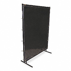 Transparent Vinyl Welding Screen, Height: 4 ft., Width: 6 ft., Charcoal Gray