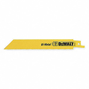 Reciprocating Saw Blade,6 In. L,PK25