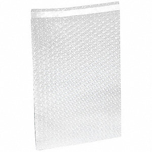 "Clear Color Bubble Bags, 11-1/2"" Length, 12"" Width, 3/16"" Bubble Height"