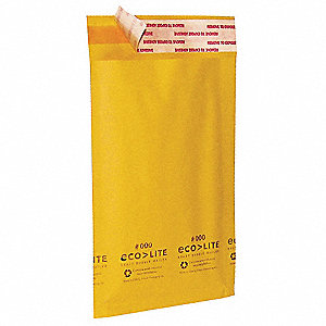 "Kraft Mailer Envelope, Kraft Paper and Polyethylene, Width 8-1/2"", Length 12"", 100 PK"