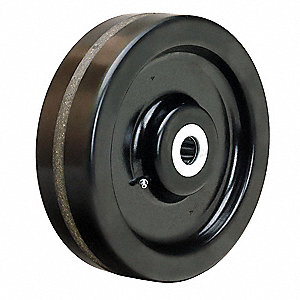 "10"" Caster Wheel, 2900 lb. Load Rating, Wheel Width 3"", Phenolic, Fits Axle 1"""