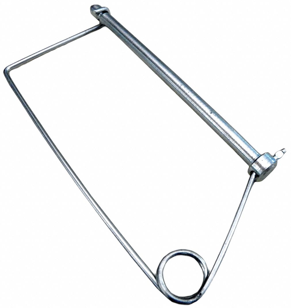 fabory steel coiled tension snap safety pin  zinc plated finish  3  8 u0026quot  pin dia