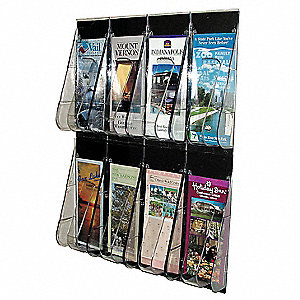 Leaflet Holder,8 Compartments,Clear