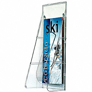 Leaflet Holder,1 Compartment,Clear