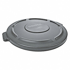 Brute Gray Round Flat Trash Can Top, 20 gal.