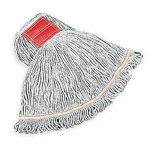 Cotton/Rayon/Synthetic Blend Wet Mop, 1 EA