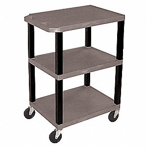 Utility Cart,300 lb. Cap.,Resin,3 Shlvs