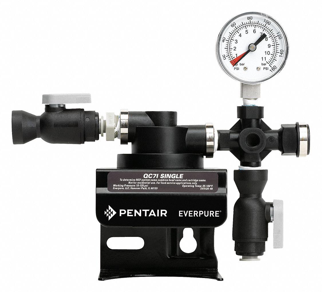 Pentair everpure 3 8 plastic single filter head assembly for Pentair everpure