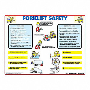 Poster,18X24,Fork Lift Safety