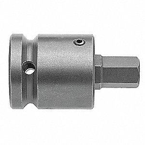 Socket Bit,3/8 in. Dr,1/4 in. Hex