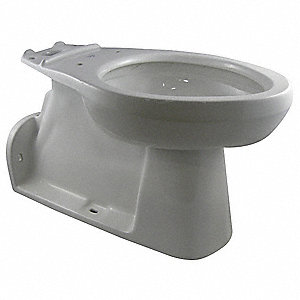 Toilet Bowl, Floor with Back Outlet Mounting Style, Elongated, 1.10/1.60 Gallons per Flush