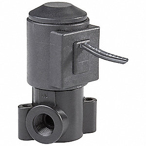 Delrin Solenoid Valve, 2-Way/2-Position Valve Design, Normally Closed
