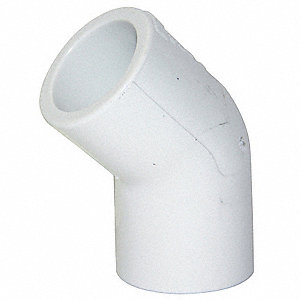 Elbow,45 Degree,1 In Slip,PVC,Sch 40