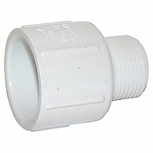 Adapter,3/4 x 1/2 In Slip x MNPT,PVC