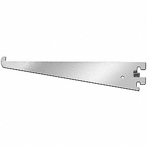 Silver Shelving Bracket, Knife Edge, 13 Gauge, Steel, Package Quantity 24