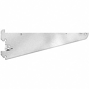 Silver Shelving Bracket, Knife Edge, 11 Gauge, Steel, Package Quantity 12