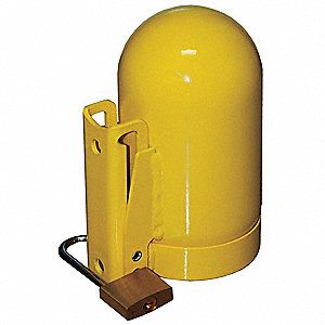 Yellow Locking Cylinder Cap, For Use With Low Pressure, Course Thread Cylinders