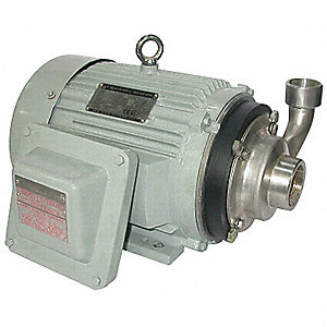 316 Stainless Steel 3 HP Centrifugal Pump, 3 Phase, 208-230/460 Voltage