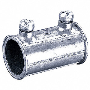"Set Screw Coupling, Zinc, 1/2"" Conduit Size"