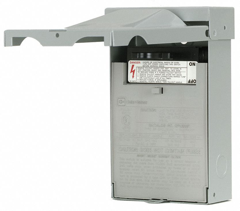 Eaton Fusible Air Conditioning Disconnect Switch Metallic