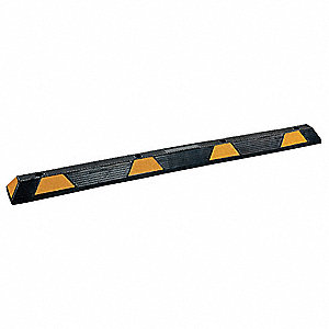 Parking Curb,71-1/2x4-1/4x5-3/4 In,Black