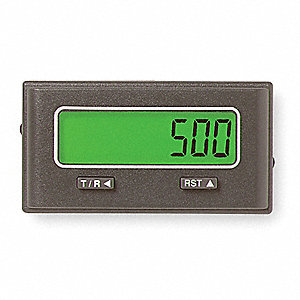 Totalizer/Ratemeter, Battery, Number of Digits:  8, 3VDC Input Voltage, Fits Panel Cut Out 33 x 68mm