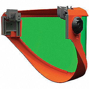 Faceshield Visor,Polycarb,Green,7-1/2x20