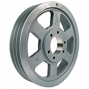 "V-Belt Pulley,Detachabl,3Groove,13.95""OD"