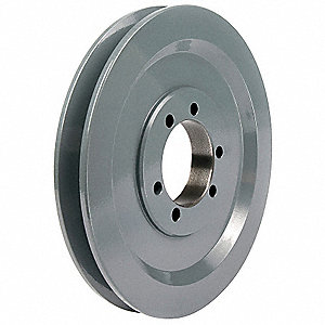 "V-Belt Pulley,Detachable,1Groove,8""OD"