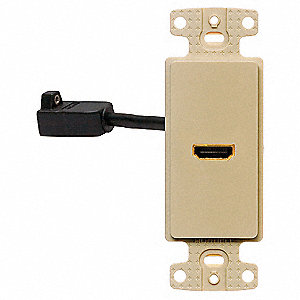 Video Wall Plate and Jack,HDMI,Ivory
