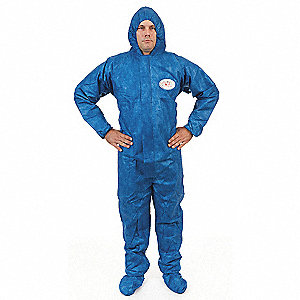 Hooded Viroguard(R),Blue,Boots,2XL,PK25