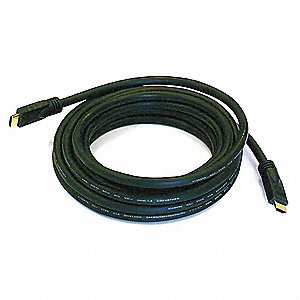 HDMI Cable,Std Speed,Black,20ft,24AWG