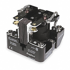 Open Power Relay, 8 Pins, 120VAC Coil Volts, 40A @ 300VAC/28VDC Contact Amp Rating (Resistive)