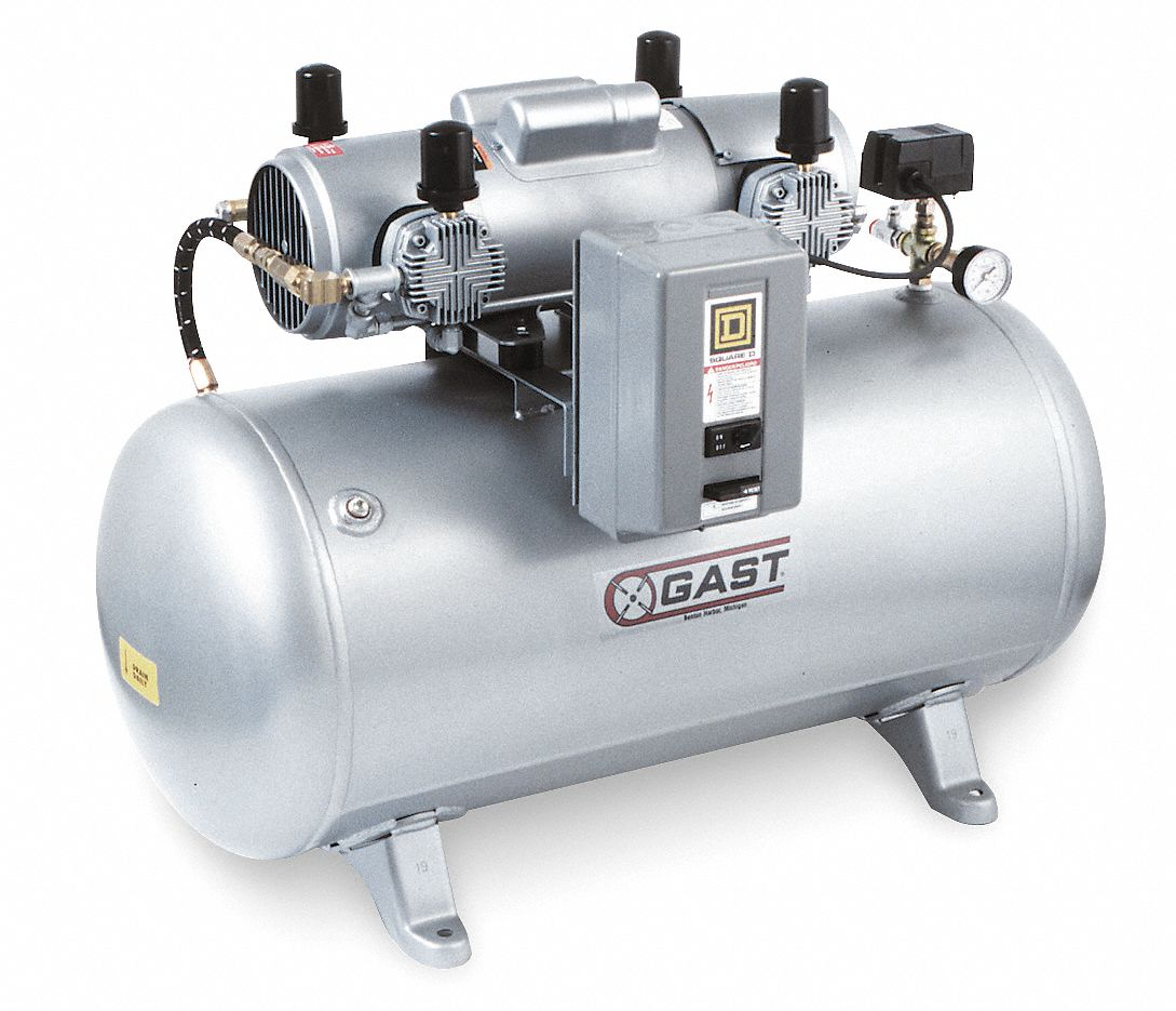 Gast 1 Phase Electrical Horizontal Tank Mounted 1 50hp