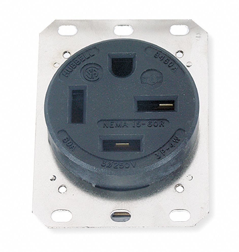 HUBBELL WIRING DEVICE-KELLEMS 60A Industrial Environments ...