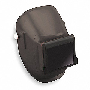 Passive Welding Helmet, Black, 290 Series, 10 Lens Shade