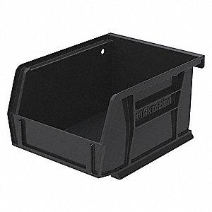 "ESD Conductive Bin, 5-3/8"" Outside Length, 4-1/8"" Outside Width, 3"" Outside Height"