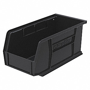 "ESD Conductive Bin, 10-7/8"" Outside Length, 5-1/2"" Outside Width, 5"" Outside Height"