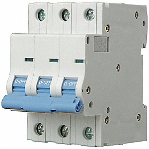IEC Supplementary Protector, 40 Amps, Number of Poles:  3, 480VAC AC Voltage Rating