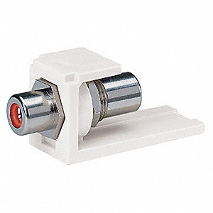 RCA Coupler,Mini-Com,Off White,Rd Insert