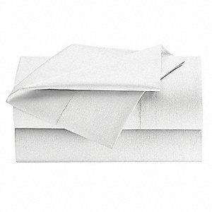 Flat Sheet,Queen,White,PK24