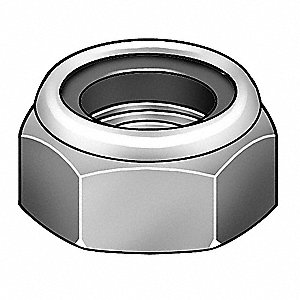 A2 Stainless Steel (Comparable to 18-8 Stainless Steel) Hex Locknut With Nylon Insert
