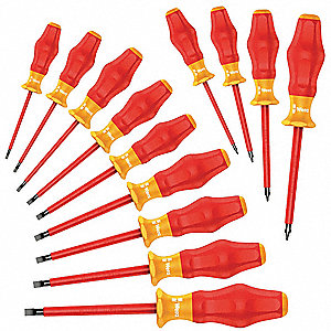 Assorted Insulated Screwdriver Set, Multicomponent, Number of Pieces: 13