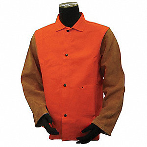Flame-Resistant Jacket,Orange/Brown,XL